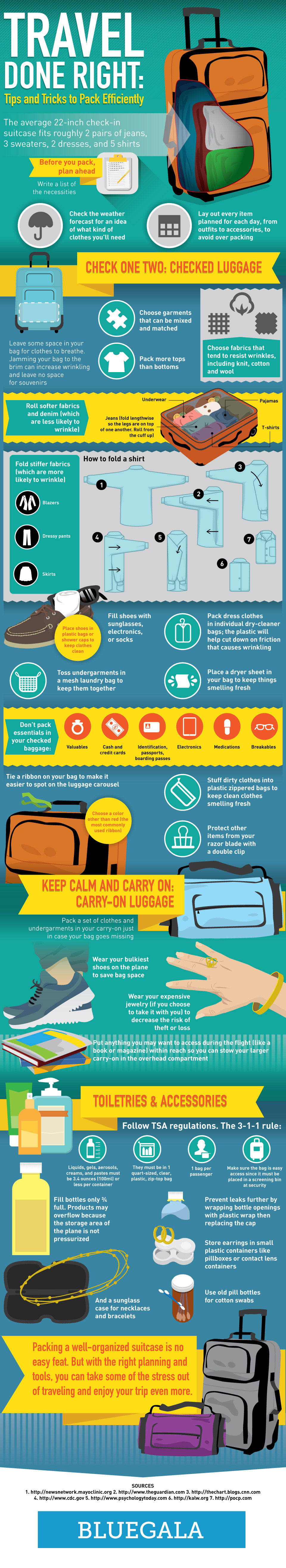 How to pack your bags for traveling?